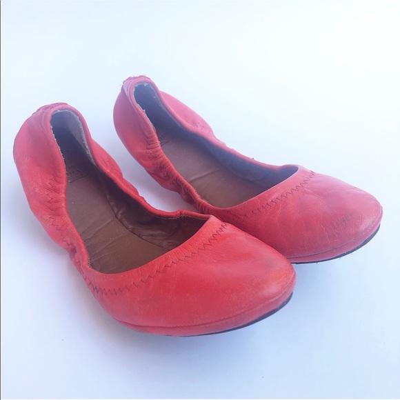 Lucky Brand Shoes - Lucky Brand Orange ballet flats 8.5